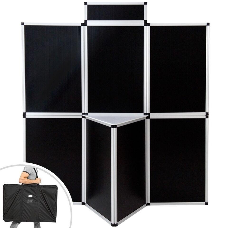 Udstillingsvæg 200x180cm sort