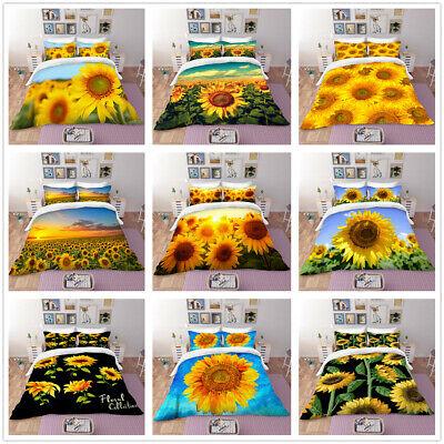 3d Beautiful Sunflowers Bedding Set Sunshine Duvet Cover Pillowcase Quilt Cover Ebay