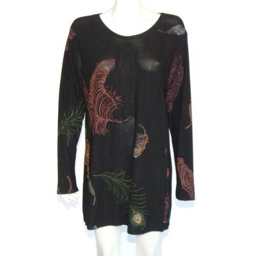 Staley Gretzinger Dress Beautiful Feather Print Tu