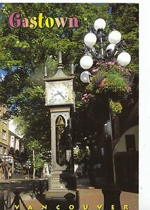 Canada-Postcard-The-Steam-Clock-Gastown-Vancouver-Ref-AB2767