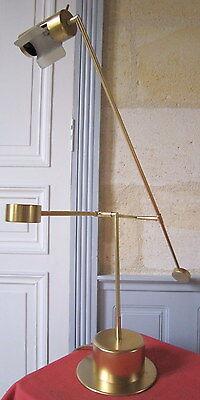 Expressive Lámpara Balancín Metal Dorado Diseño 70 'setenta Lamps Decorative Arts