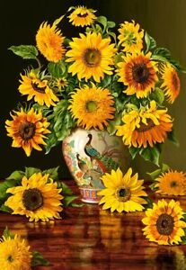 Puzzle-Castorland-1000-Teile-Sunflowers-in-a-Peacock-Vase-61374