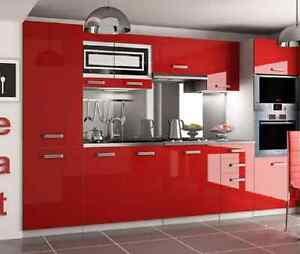 Cheap kitchen cabinets high gloss complete set 300 cm 8 for Cheap kitchen cabinets sets