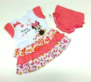 finest selection c8835 c1172 Details zu Baby Kleid 50/56 Mädchen Sommer Minnie Maus USA size newborn NEU  Disney 2 Teile