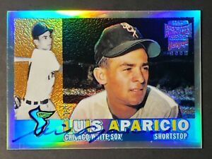 2001-Luis-Aparicio-Signed-TOPPS-Archive-Reserve-1960-TOPPS-Reprint-On-Card-AUTO