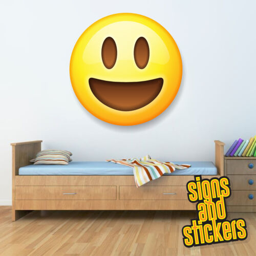 Emoji Happy large vinyl wall car decal sticker 4 sizes bedroom em14