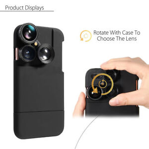 reputable site 65334 49fb6 Details about For iPhone 8 Plus 4 in1 Camera Lens Kit Wide  angle+Macro+Fisheye+Telephoto Case