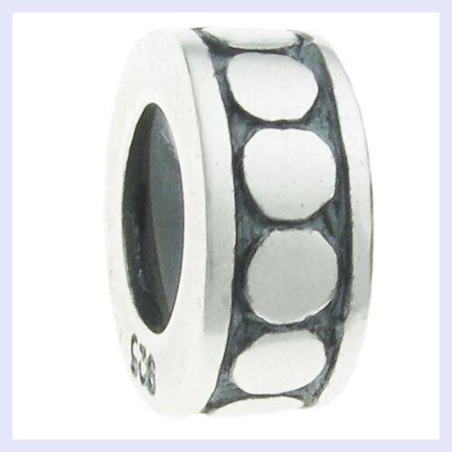 925 Sterling Silver Dot Rondelle Round Spacer Bead for European Charm Bracelet