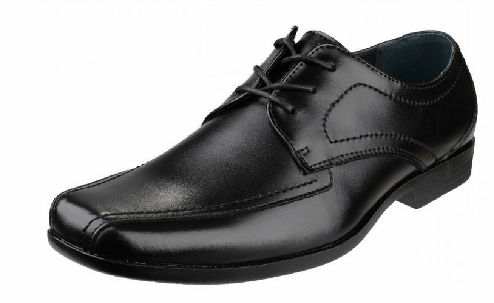 Hush Puppies EASTON Ralston Uomo Nero (Kett) Pelle Scarpe Lace-up (38B) (Kett) Nero 737312