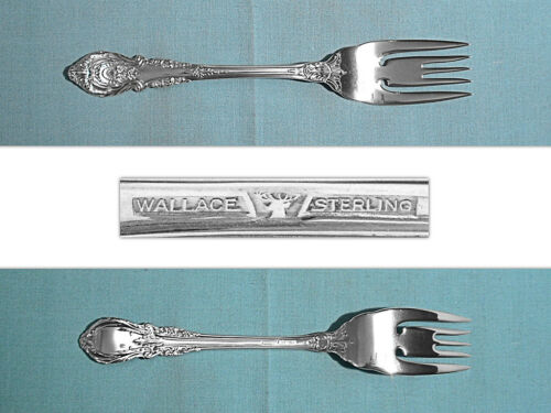 WALLACE STERLING SALAD FORK S ~ SIR CHRISTOPHER ~ NO MONO