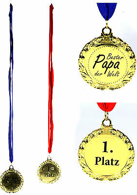 Medaille mit Aufklebern Mama Papa Oma Opa Schatz Happy Birthday 129086313