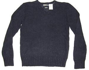 643fd72d4 $165 Polo Ralph Lauren Mens RL Newport Navy Heavy Knit Silk Linen V ...