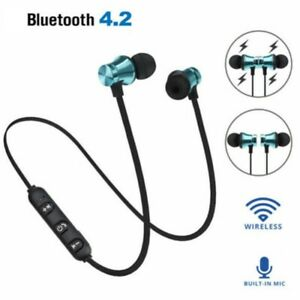 fa8836ce288 Image is loading Wireless-Magnetic-In-Ear-Earbuds-Headphone-Bluetooth-4-