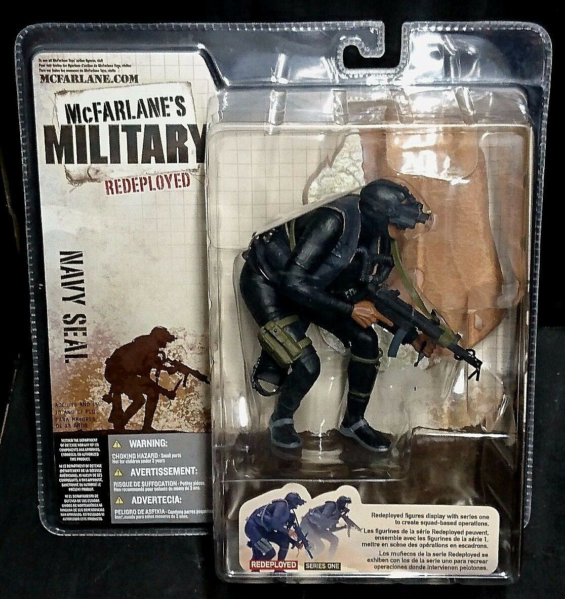 McFarlane's Military Redeployed  NAVY SEAL New  Rare  (Series One)