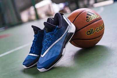 Adidas Crazylight Boost 2.5 Low Lace Up Blue Silver Basketball Shoes AQ8469 M13