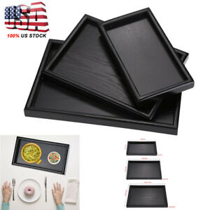 Rectangle-Wood-Tea-Coffee-Snack-Food-Serving-Tray-Restaurant-Trays-Plate-US