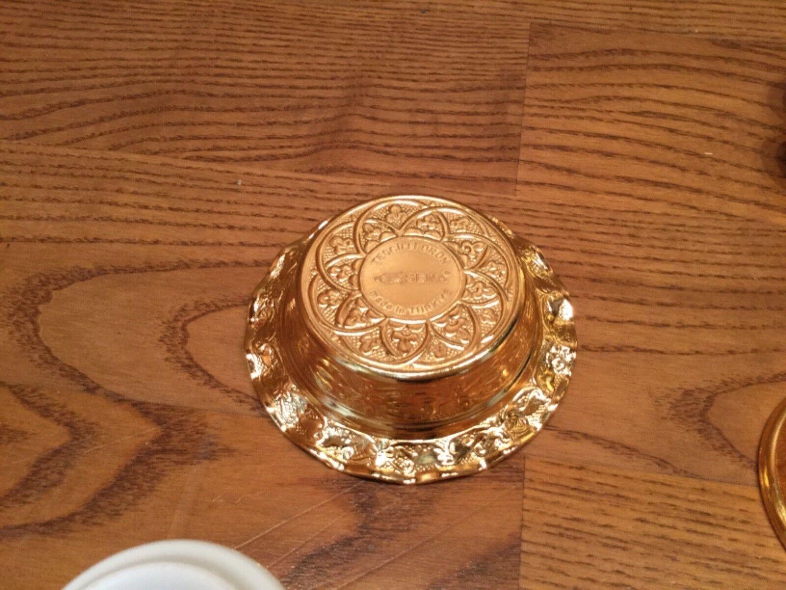 Porland Premium Gilded Gold Plate SENA Tea Set Set Set for 6 - Turkey (Rare) 6d2d87