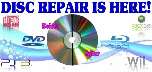 350 Professional Disc Repair Service Scratch Removal Resurface Restore Any Disc