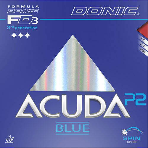 Donic Acuda bluee P2 Revestimiento de Ping Pong