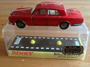 DINKY 158 ROLLS ROYCE SILVER SHADOW BOXED - <span itemprop=availableAtOrFrom>Birmingham, West Midlands, United Kingdom</span> - DINKY 158 ROLLS ROYCE SILVER SHADOW BOXED - Birmingham, West Midlands, United Kingdom
