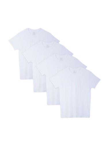 Fruit of the Loom Big Men/'s 4 Pack Beyondsoft White Crew Neck T-Shirts 54-56 3XL