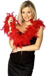 Rojo-Boa-de-plumas-mujer-Rocky-Horror-Accesorio-de-Disfraz-50g-150cm
