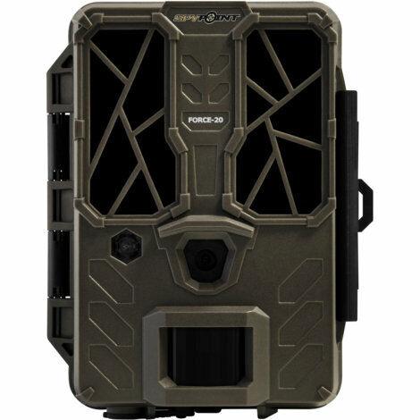Cam/éra de chasse 20 m/égapixels Parfait pour les d/ébutants Enregistrement Full HD Spypoint FORCE-20 Cam/éra de surveillance sauvage Construction compac Suivi de votre terrasse//jardin