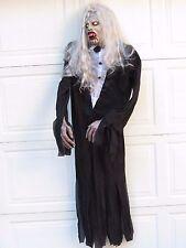 Hanging 5' Ft Vampire Greeter Butler w/ Glow In The Dark Eyes Halloween Prop