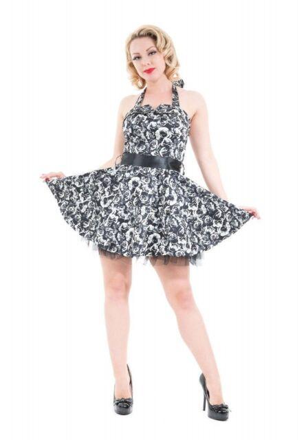 H & R BLACK ROSE Mini DRESS Floral Black Dalia 5405
