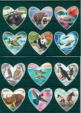 Fauna Animals Owls Turtles Pandas Dolphins etc Madagascar 12 MNH stamps set