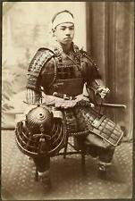 Japanese Warrior in Armour - Samurai ? 1880's, Reprint Photo 12x8 inch