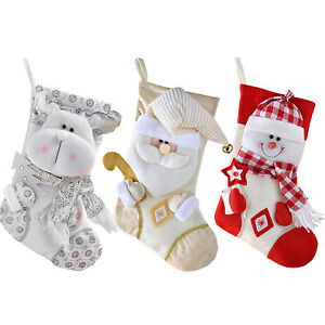 image is loading 48 cm christmas stocking with 3d snowman head
