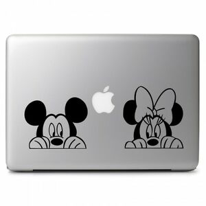 Mickey-Minnie-Mouse-Peeking-for-Macbook-Air-Pro-Laptop-Car-Vinyl-Decal-Sticker