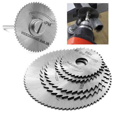 Off Wheel Rotary Tool Circular Saw Blades Discs Mandrel Metal 5PCS  4/'/' Cut
