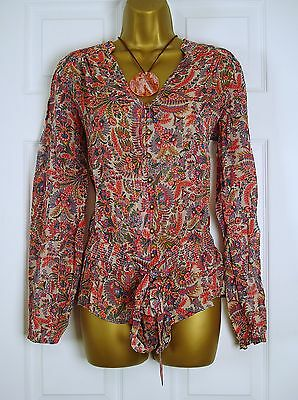 NEW MONSOON LADIES PINK BLUE GREEN YELLOW GOLD SUMMER FLORAL BLOUSE TOP UK 8-22