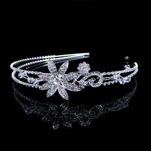 Niedlich-Blume-Hochzeit-Braut-Brautjungfer-Haarreif-Krone-Diademe-Tiara