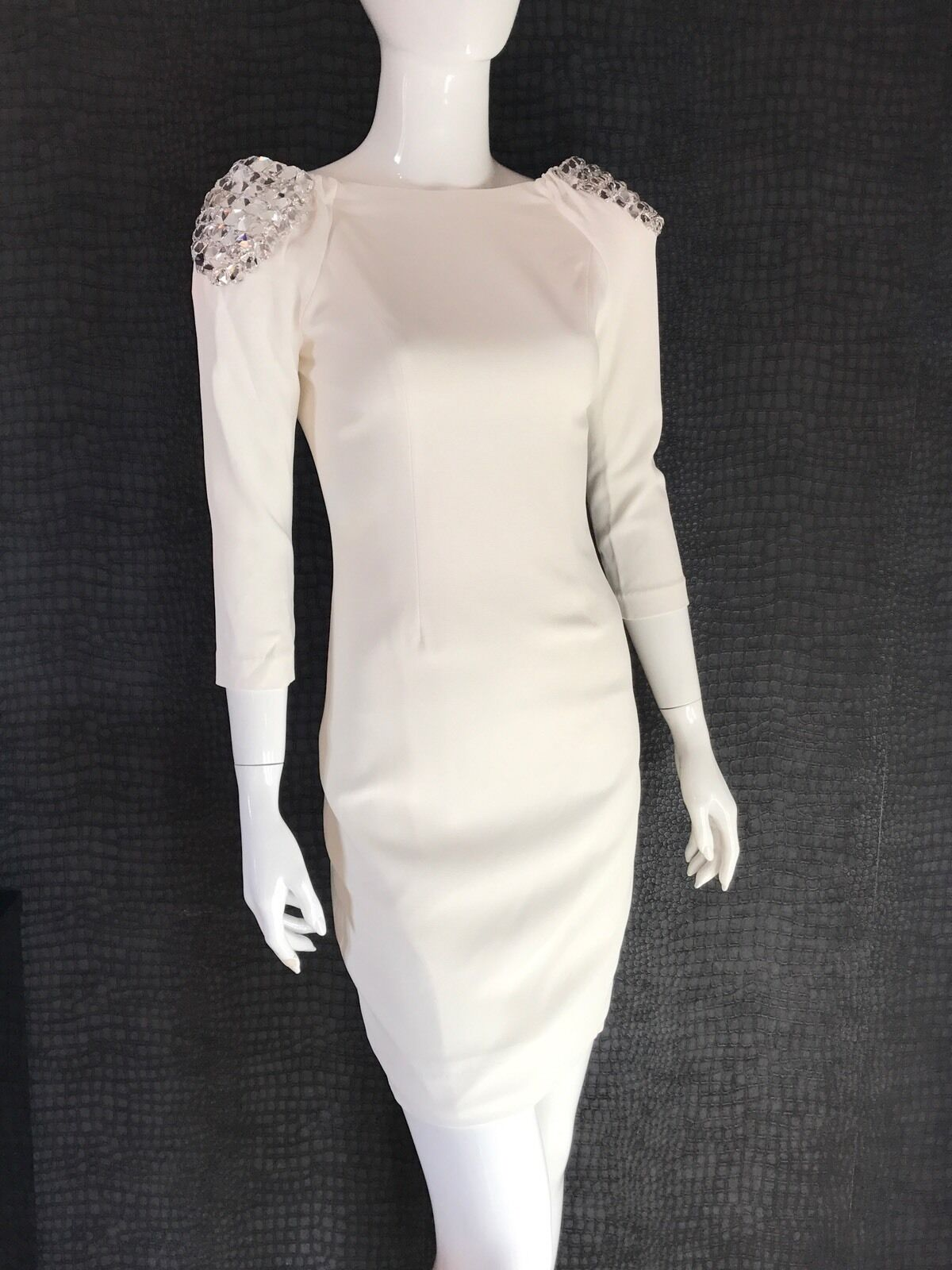 New With Tags - Forever Unique Candy Ivory Embellished dress - RRP