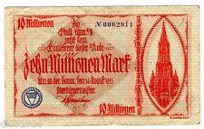 Allemagne GERMANY REICHSBANKNOTE Billet 10 MILLION MARK 1923 NOTGELD BON ETAT