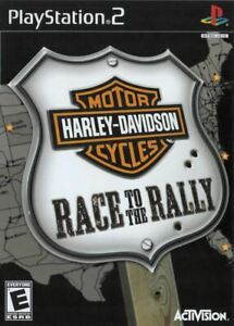 Harley-Davidson-Race-to-the-Rally-PlayStation-2-PS2-Game-Complete-CLEAN-VG