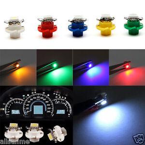 1x-weiss-b8-4d-5050-1-smd-Armaturenbrett-Auto-Seite-Dash-Gauge-Instrument-LED-Leuchtmittel