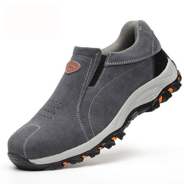 Mens Steel Toe Prevent Puncture Welding Safety Shoes  Sneakers Work Loafer Boots