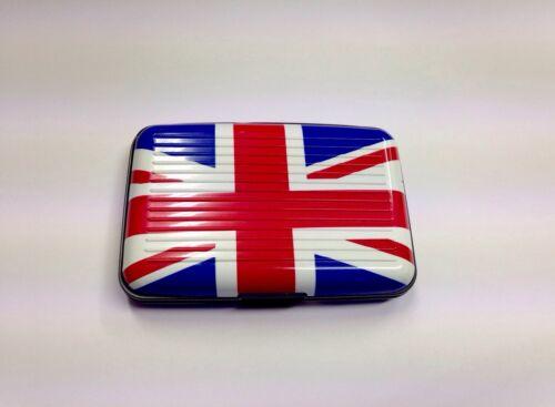GB Union Jack aluminium carte de crédit titulaire cartes de visite poche boîtier étanche