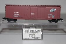N Scale Kadee 32230 Chicago & North Western 50' Plug Door Boxcar 152053