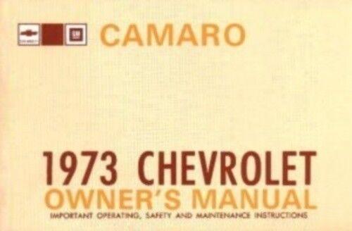 CAMARO 1973 Owner/'s Manual 73
