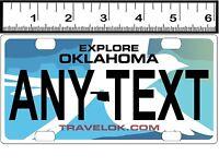Custom Personalized Aluminum Bicycle Mini State License Plate-explore Oklahoma