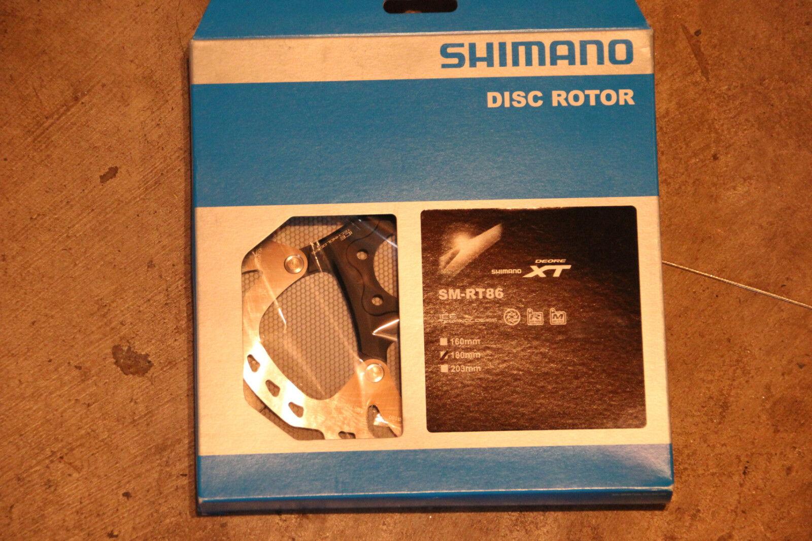 New Shimano SM-RT86 IceTech 180mm 6-bolt brake redor