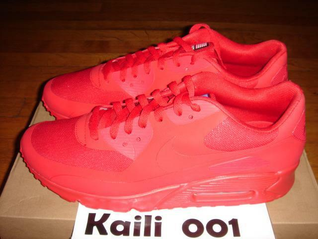 Nike Air Max 90 HYP QS Storlek 12 RED Hyperfuse 4 juli Pack Independence Day C