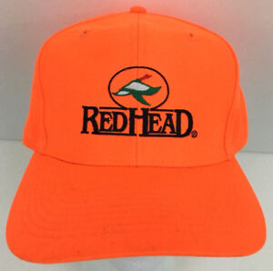 Red Head Hat Duck Cap Logo Baseball Trucker Hunting Deer Snapback ... 144575de213b