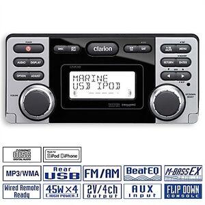 CLARION-Wasserfestes-Marine-Boot-Yacht-Boat-CD-MP3-Radio-Receiver-USB-CMD8-CMD-8