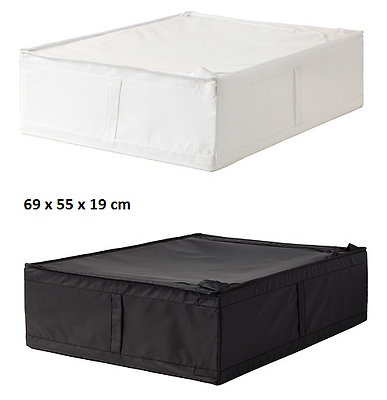 Hard-Working 2x Ikea Skubb Storage Case Underbed Box White Black Wardrobe Organiser 69x55x19 Rich And Magnificent Home & Garden